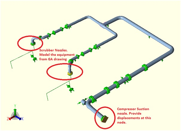 typical suction piping model