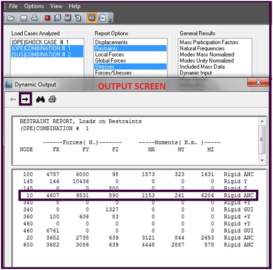 Typical Output Reports
