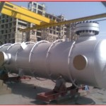 A typical pressure vessel for a process plant
