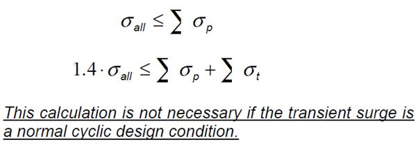 Equations to calculate stresses