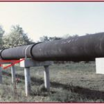Figure showing pipe support span