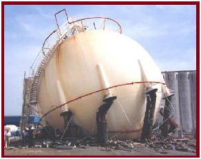 Sphere Collapsed during hydrotesting