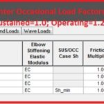 Specifying Occasional Load factors in Caesar II for GRP/FRP piping system