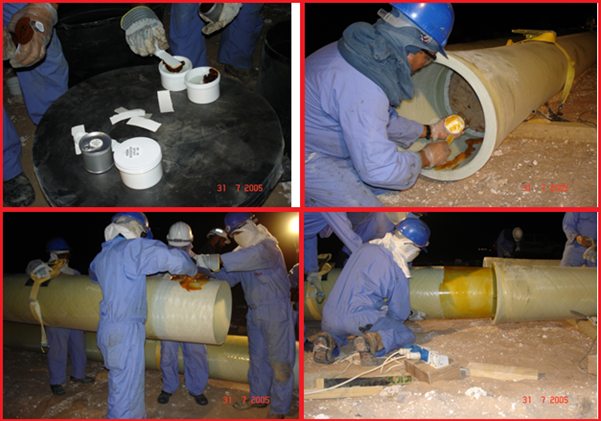 Installation of adhesive bonded joint