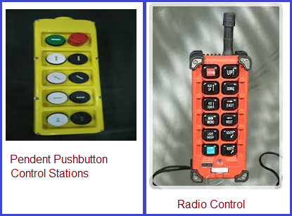 Typical control equipments for crane