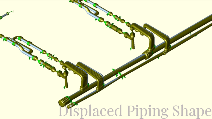 Sample Piping Displacement during FIV